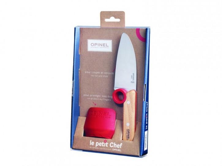 Opinel Le petit Chef, Küchenmesser-Set, 2-teilig, Kochmesser, Fingerschutz, rostfrei