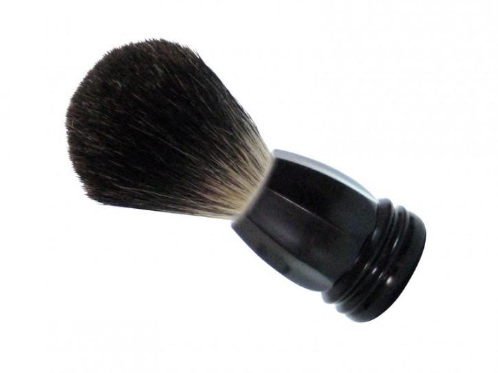 GOLDDACHS Rasierpinsel, 100% Dachshaar,Kunststoff, schwarz, matt