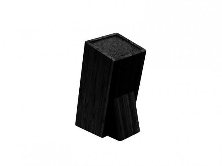 Taylor's Eye Witness, Universal Holz-Messerblock, schwarz, herausnehmbarer Borsten-Einsatz aus Kunststoff-Fasern