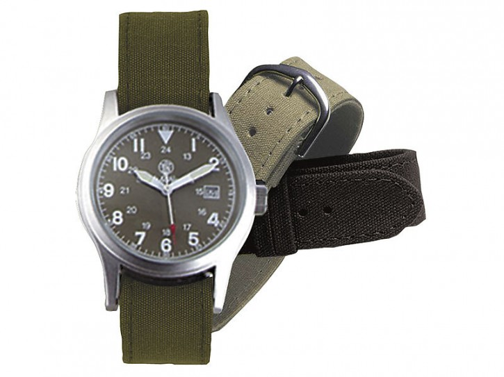 Smith and Wesson Uhr, Modell Military, mit 3 Armbändern WEEE-Reg.-Nr. DE93223650