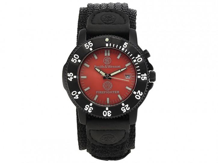 Smith & Wesson Uhr Fire Fighter, Hintergrundbeleuchtung, Nylon-Armband, WEEE-Reg.-Nr. DE93223650