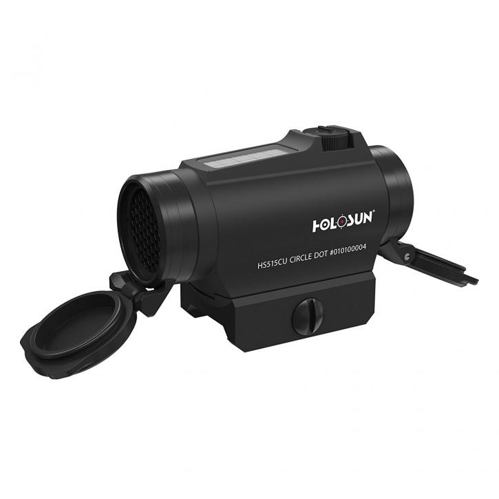 Holosun Rotpunktvisier HS515C-U-BLACK mit wechselbarem Absehen Zielfernrohr