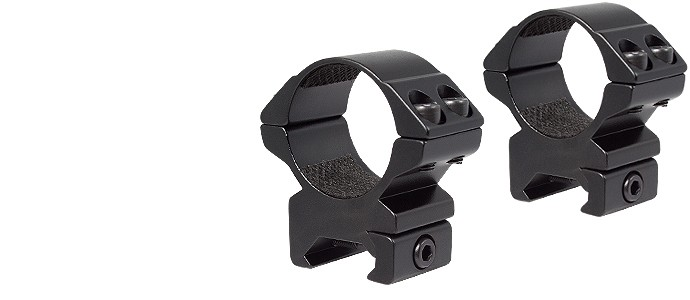 Hawke 30mm 2 Piece Match Mount (Weaver Rail) Matt Black - Medium