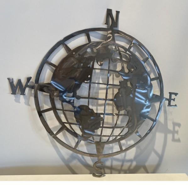 Welt im Kompass