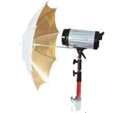 Reflex-Wendeschirm URN-48GW gold/weiß --> ø 108 cm