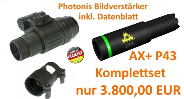 NV Mono III AX+ P22/P43 Photonis Komplettset
