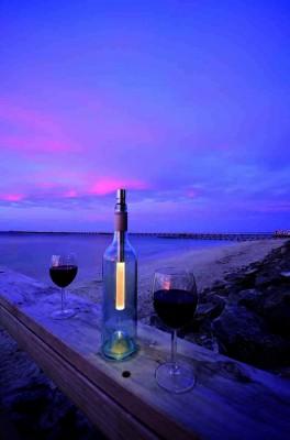 Bottle Light Flaschenlampe Bottlelight mit weiß LED und einstellbarer Farbe
